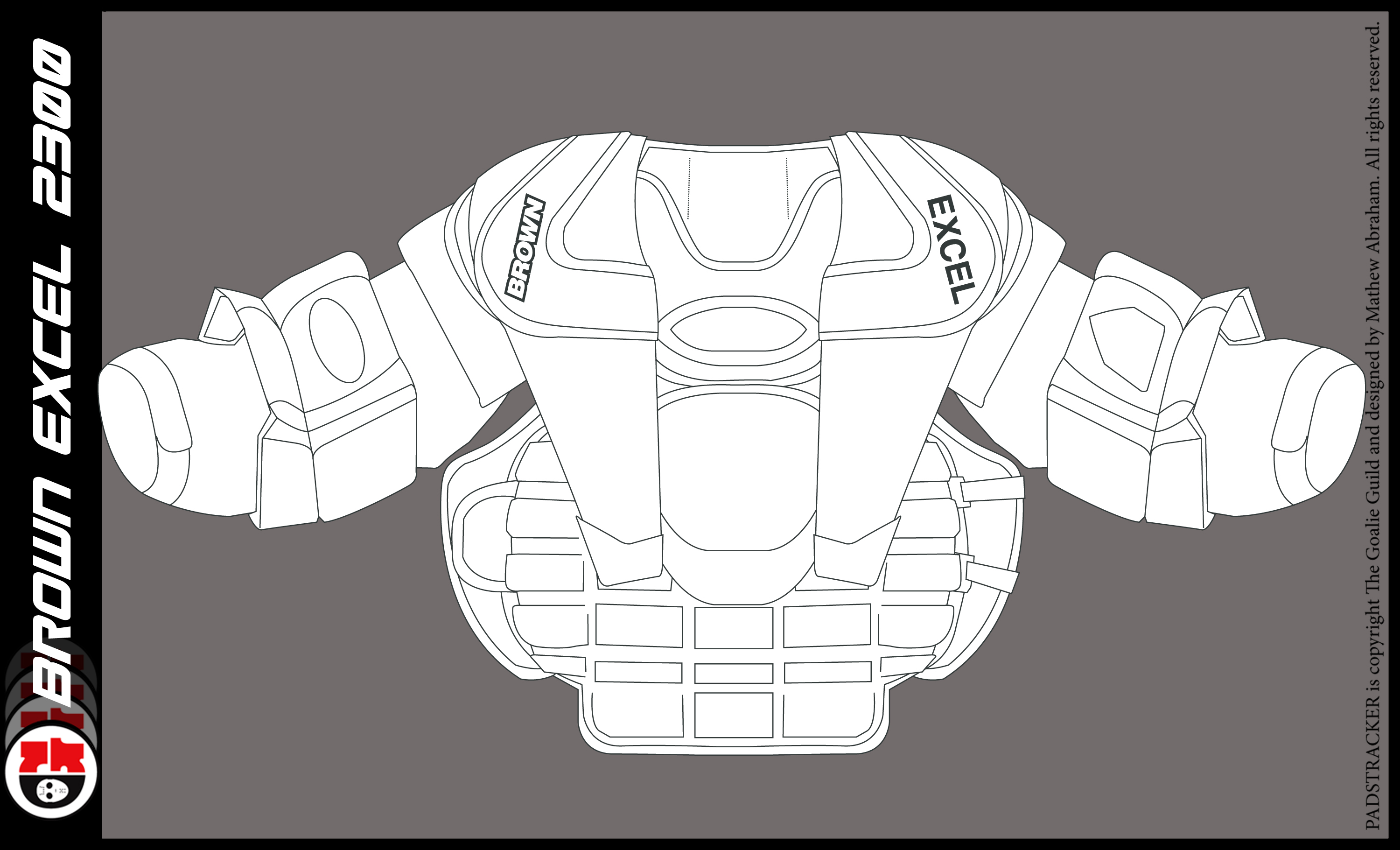 Chest Amp Arm Pad Templates The Goalie Archive