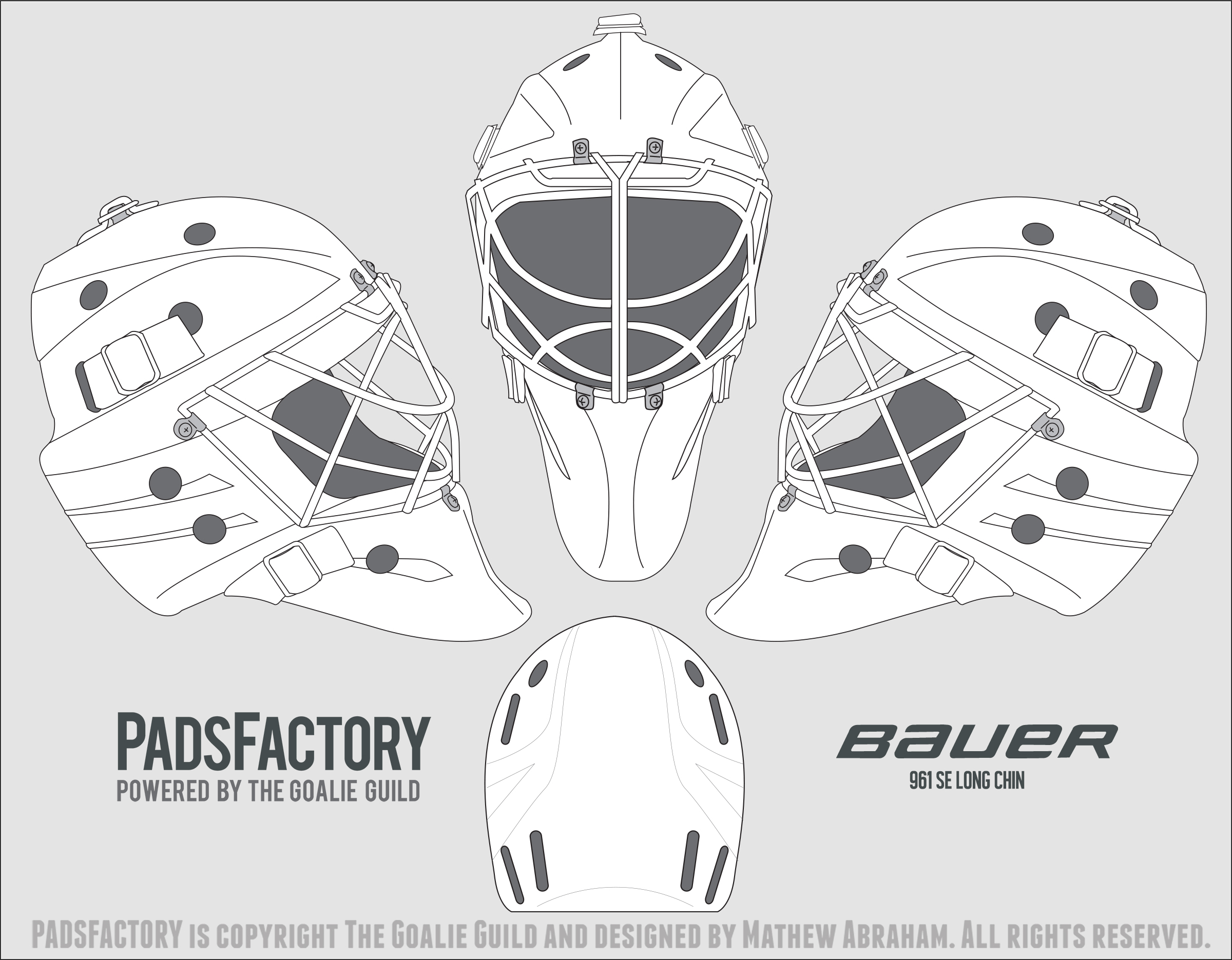 bauer goalie mask template - mask templates the goalie archive