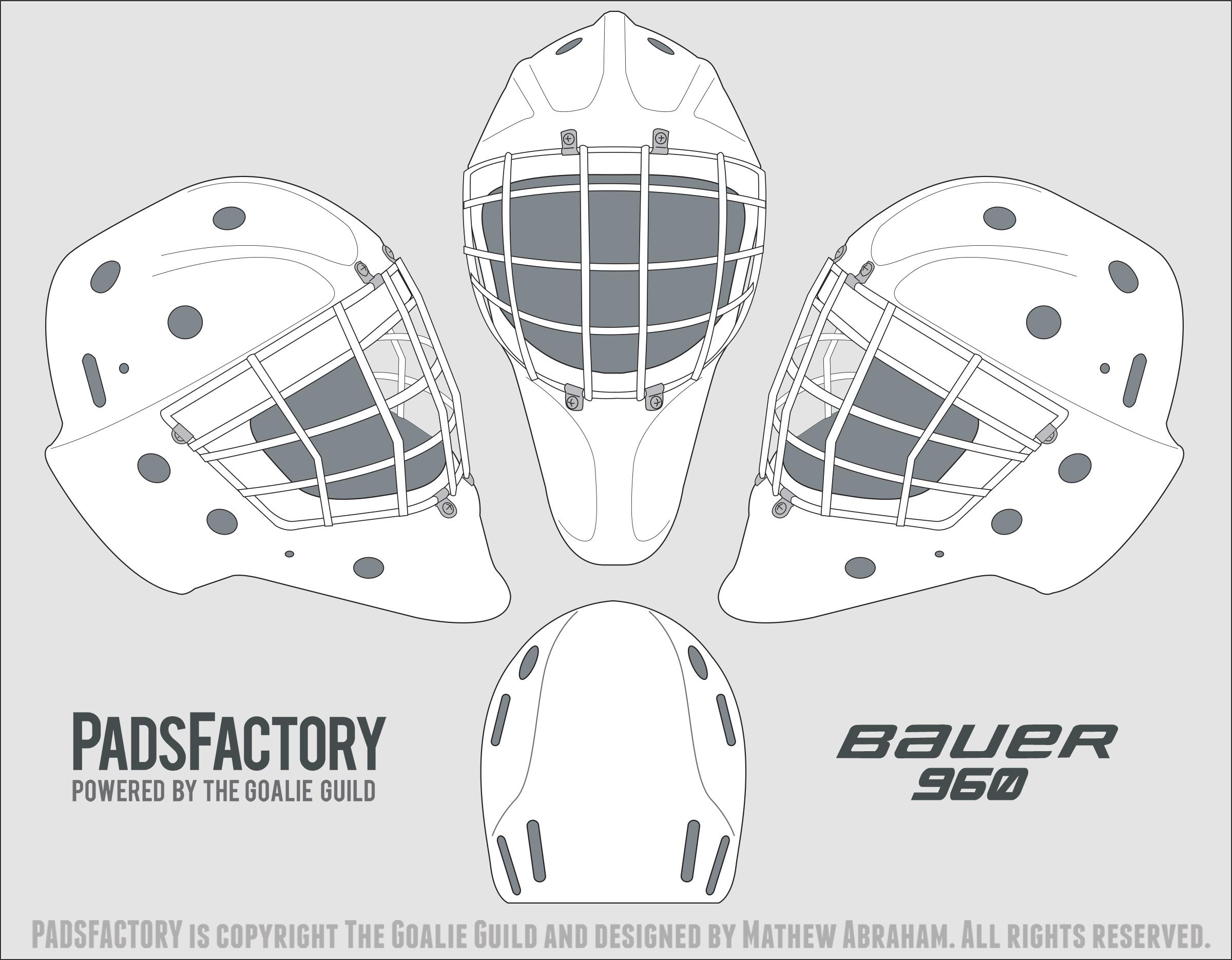 Blank goalie mask template.
