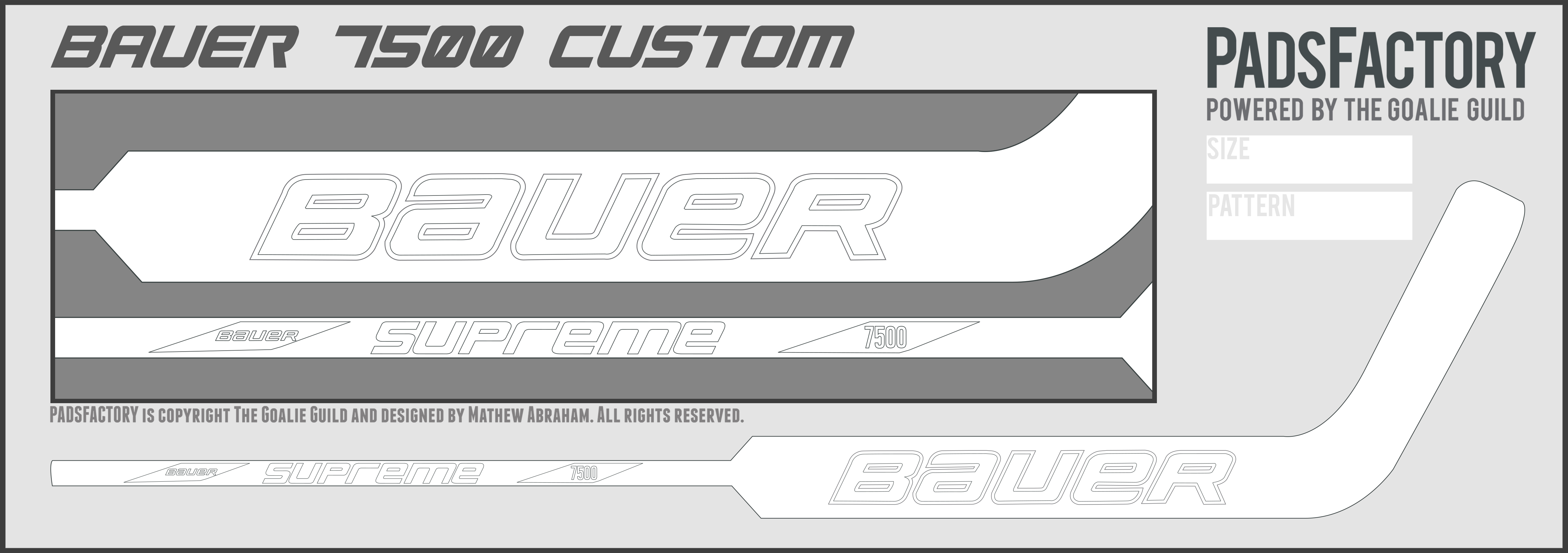 Stick templates the goalie archive for Bauer goalie mask template